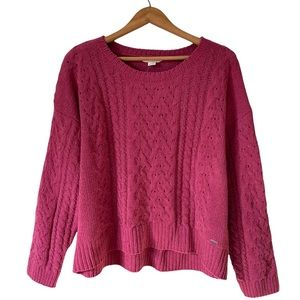Aeropostale   Cable Knit Chenille Sweater Dusty Rose